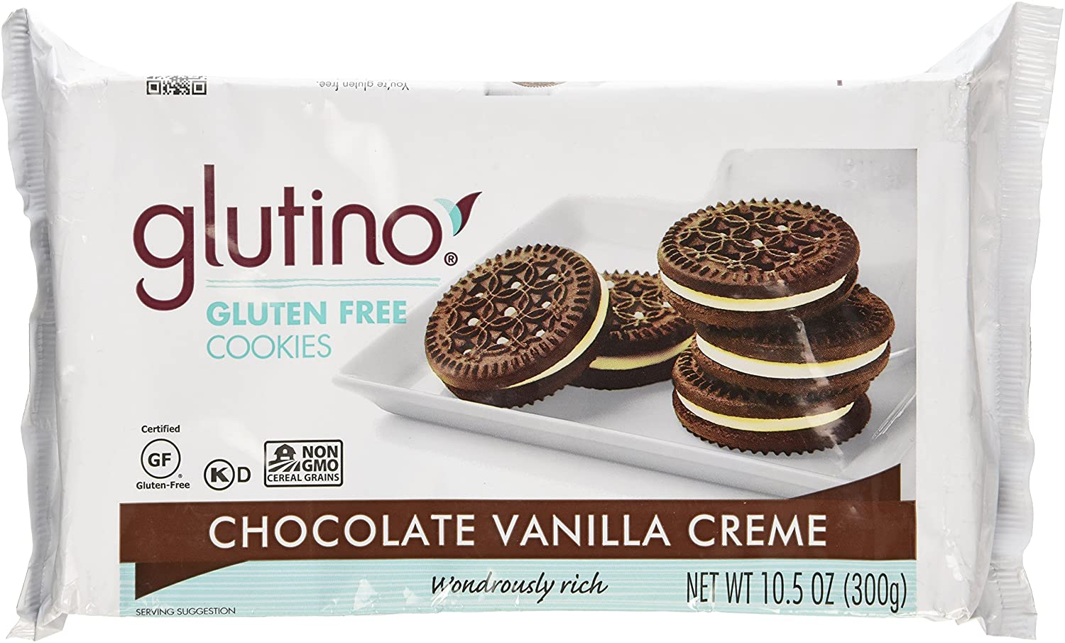 Glutino Chocolate Vanilla Cream Cookies, Gluten Free 10.5 OZ