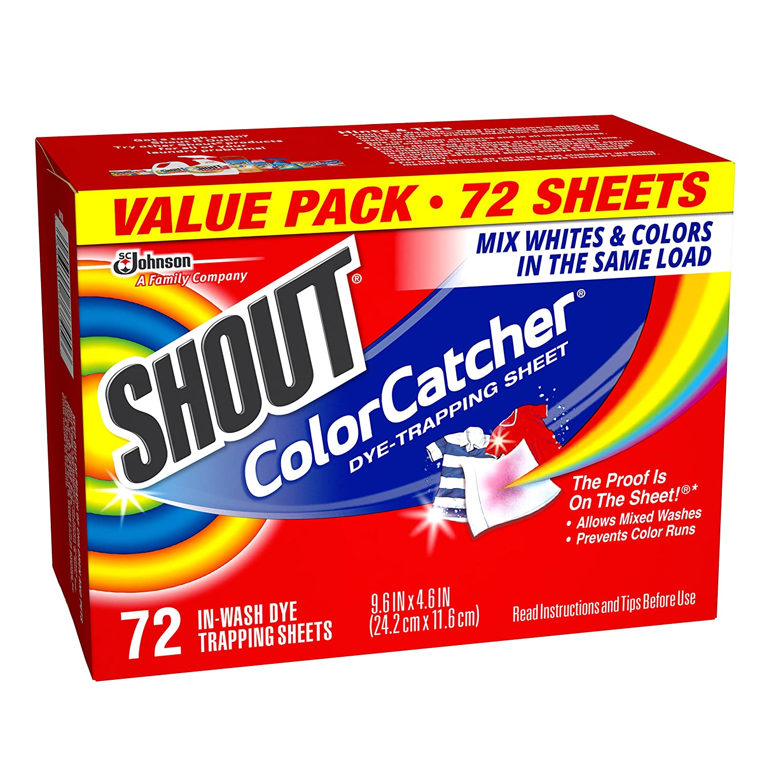 Colour catcher sheets - Amazon Com Shout Color Catcher Dye Trapping Sheets 72 0 Count Health Personal Care