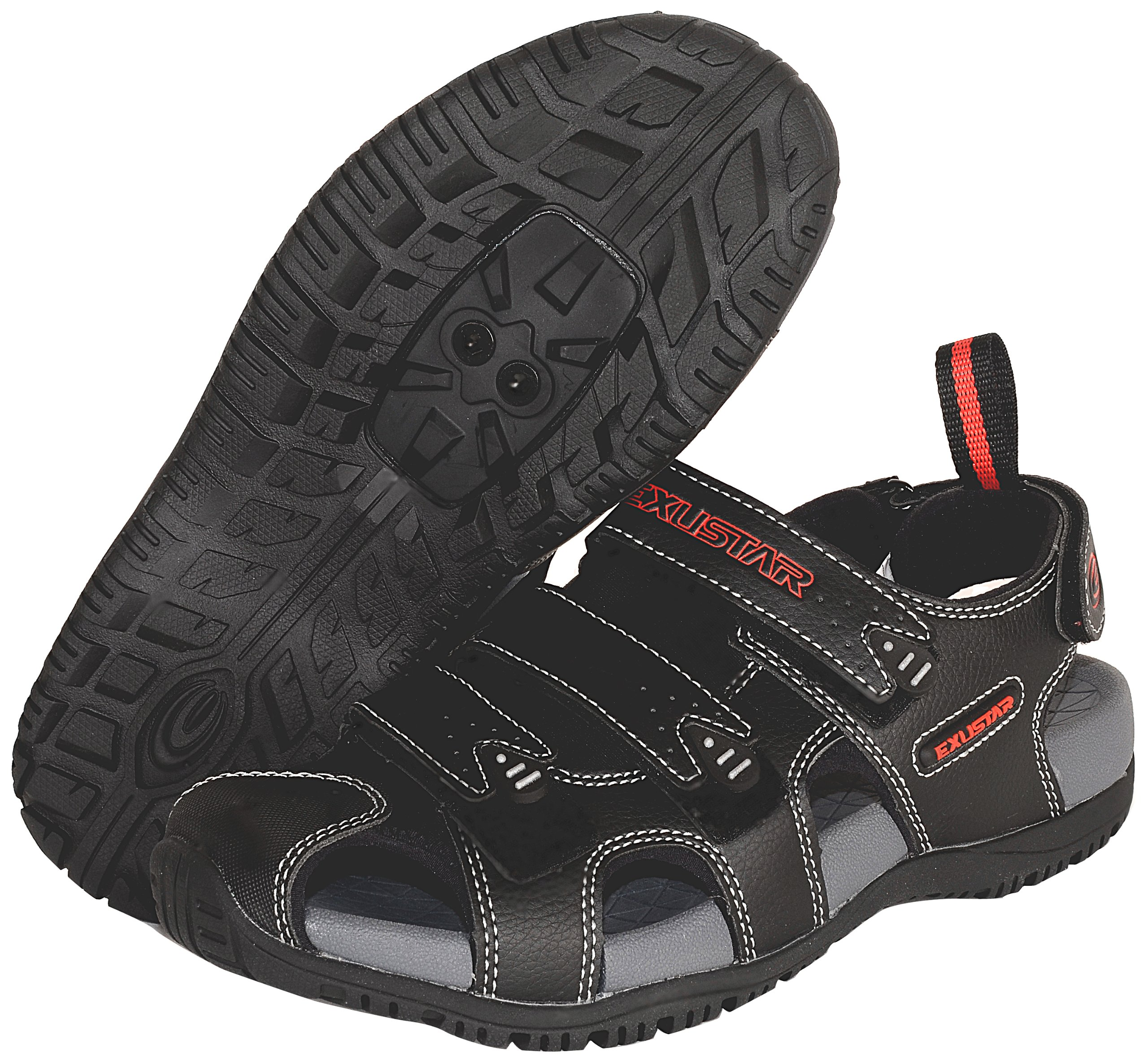 Exustar E-SS503 Bike Sandal, Black, 37/38 Euro or 5-6 US by Exustar