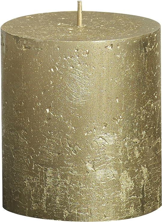 Colore: Grigio Chiaro 103868020329 Rustic Candela cilindrica in Cera paraffinica
