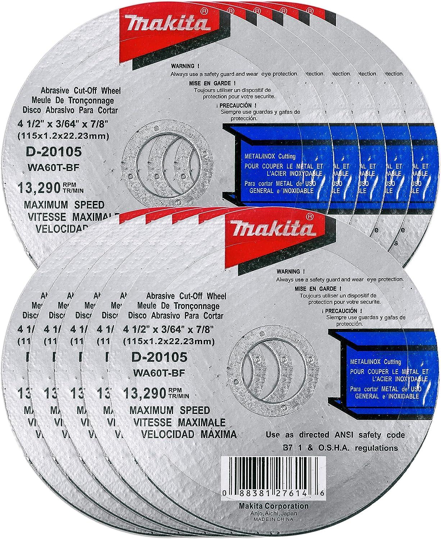 Depressed Center Wheel 232 Pack 4 1//2 in Dia 1//4 in Thick 24 Grit Aluminum