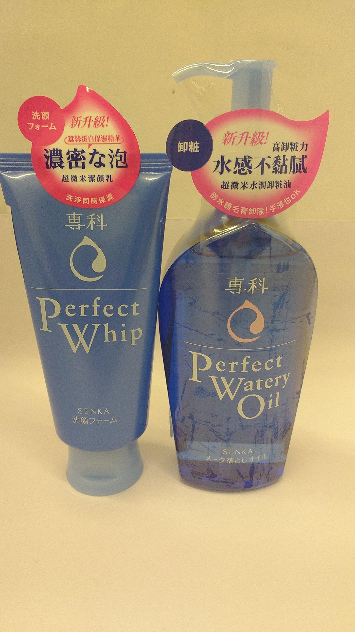 SHISEIDO FT SENGANSENKA PERFECT WHIP FACIAL WASH 4.2oz/120g and PERFECT WATERY OIL 230ML set