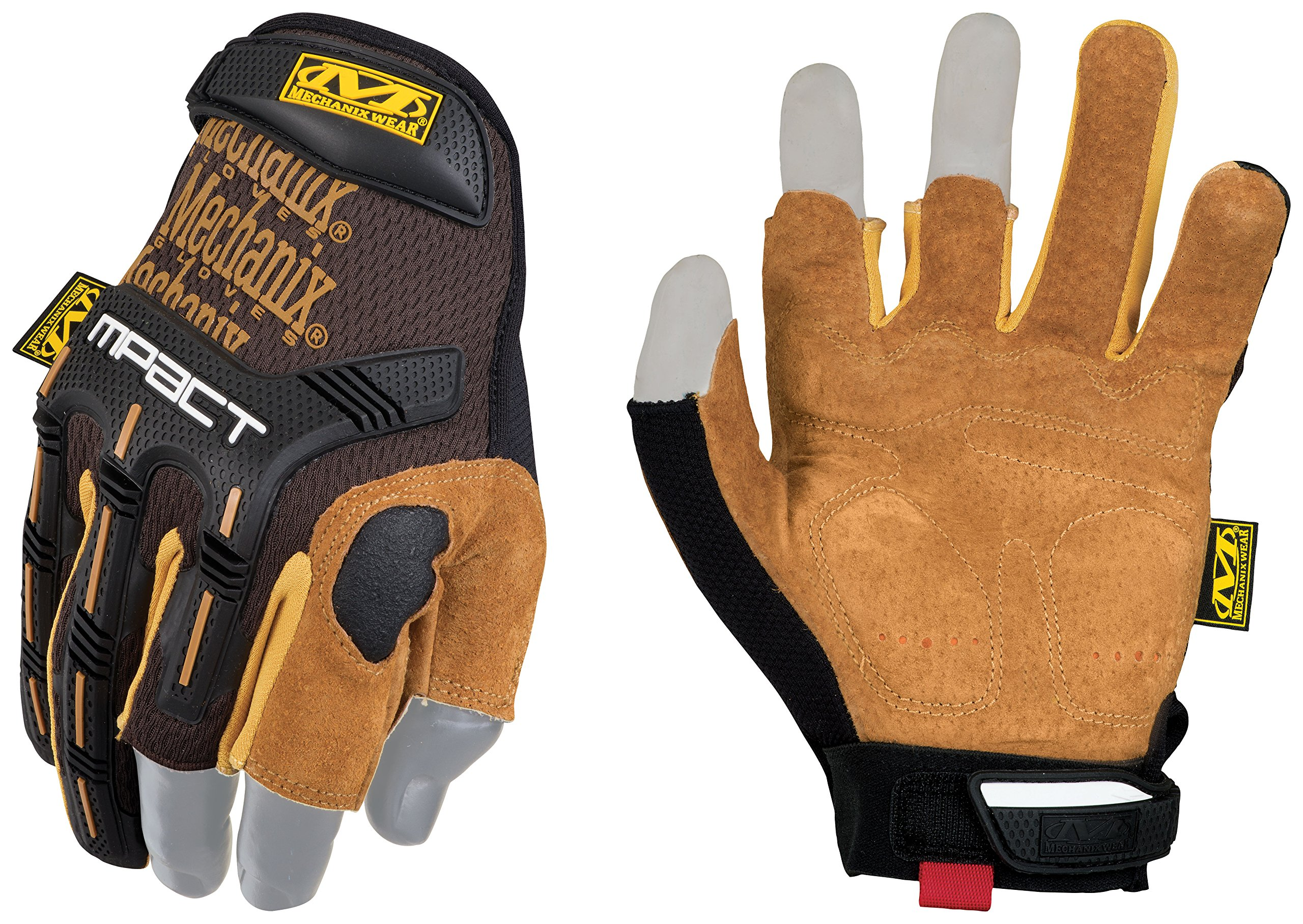 Mechanix Wear - Leather M-Pact Framer Gloves (Medium, Black/Brown) by Mechanix Wear (Image #1)