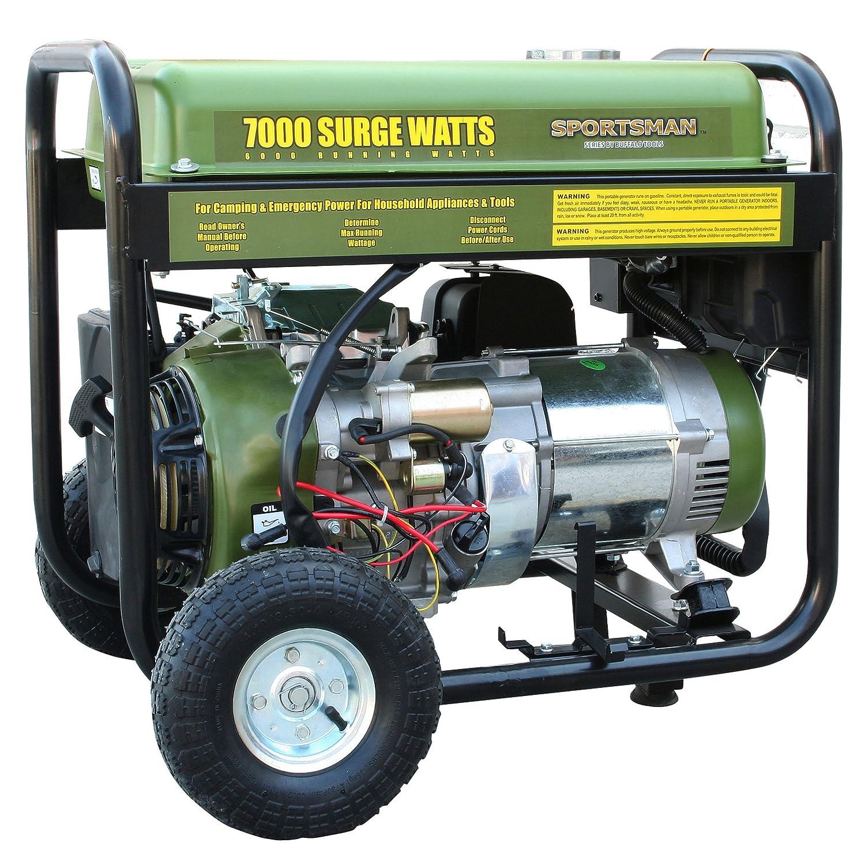 Sportsman Gen7000 6000 Running Watts 7000 Starting Hpm Plugin Circuit Breaker 8amp Bunnings Warehouse Gas Powered Portable Generator Propane Garden Outdoor