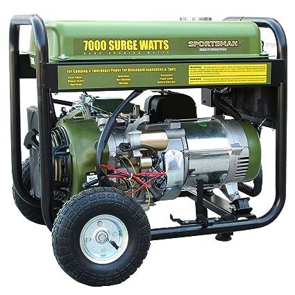 Amazon.com: Sportsman GEN7000 generador portable a gas, 7000 ...