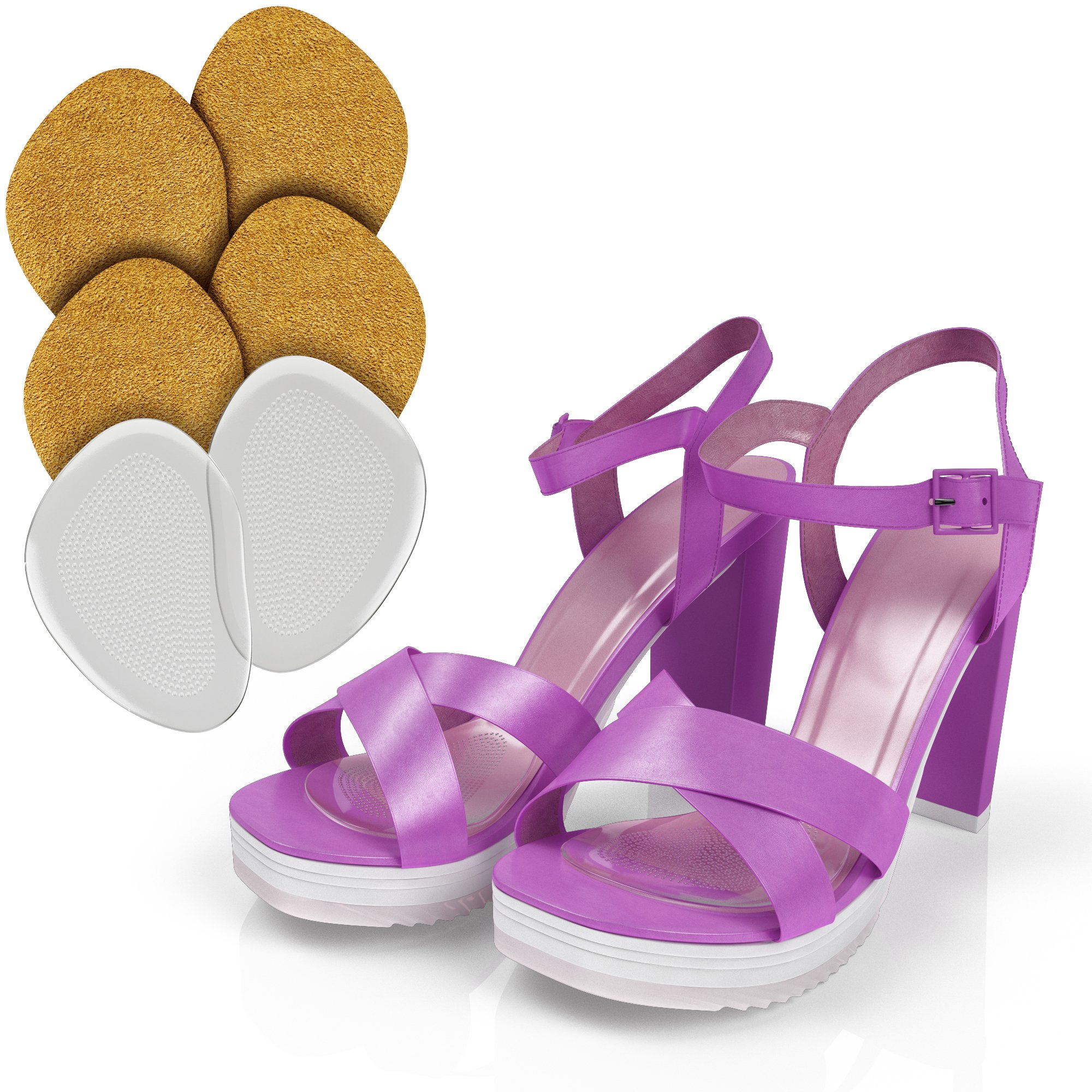 Ball of Foot - Ball of Foot Cushions - (3 Pairs) - Ball of Foot Pads - Ball of Foot Cushions for Heels - Foot Pain Relief