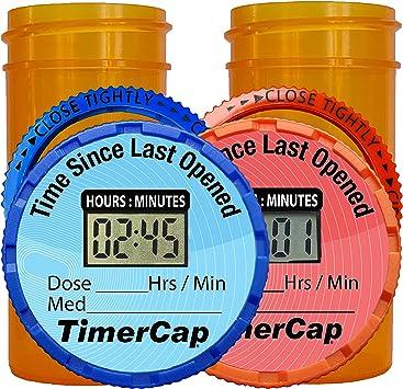 Timer Caps with Std. 2 oz. Vials
