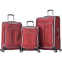 3 Piece Olympia Luggage Tuscany pinner Expandable Luggage Set