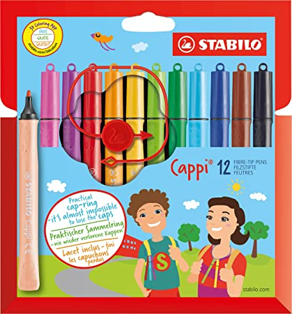 STABILO Cappi Felt-Tip Pen Wallet of 12