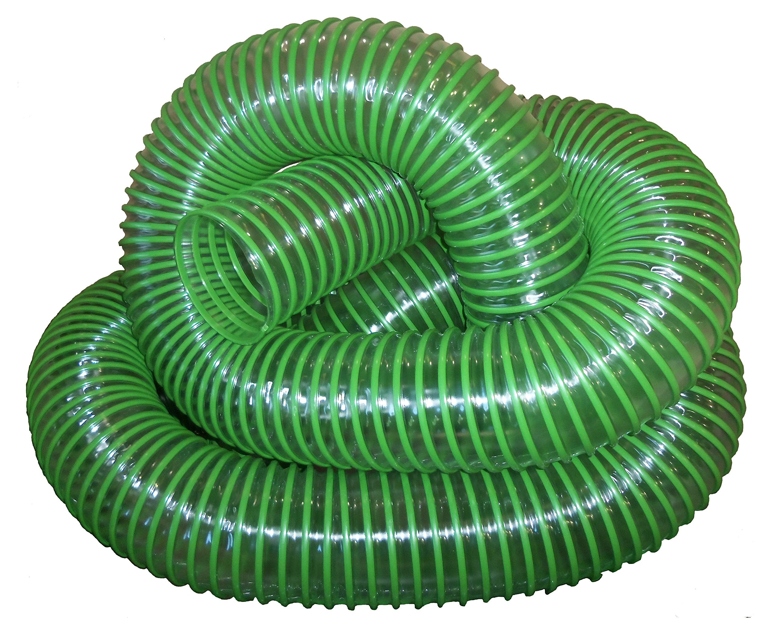 Green Leaf Vacuum Collection Yard Hose (6 Inch ID) | Clear Urethane .030'' Wall (Cut Length) (6x7) by Universal Hose and Fittings