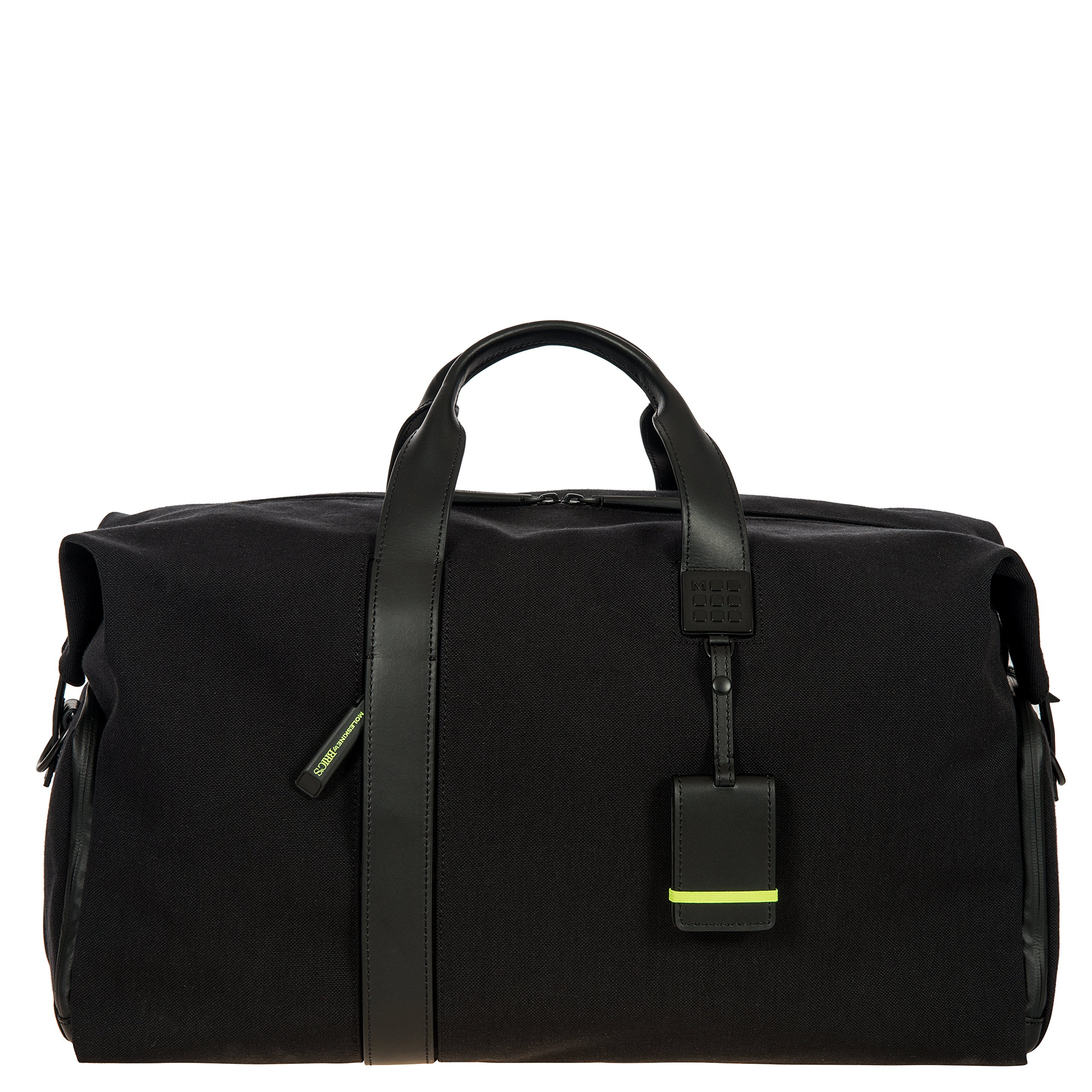 Bric's Men's Moleskine 20 inch Business Overnight Duffle Bag Weekend Duffel, Black, One Size