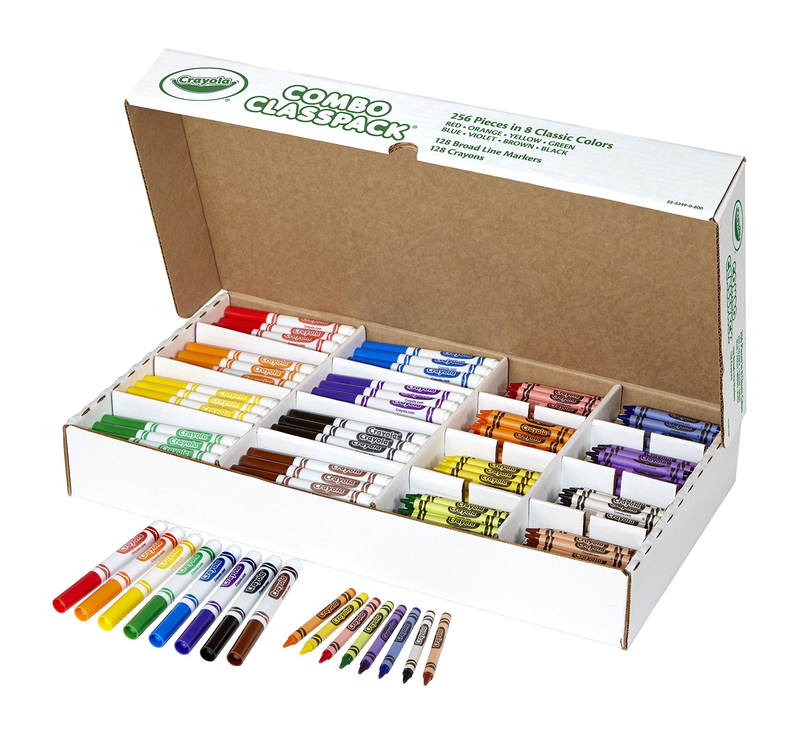 Crayola Bulk Markers and Crayons, 256 Count Classpack by Crayola