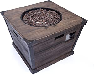 Christopher Knight Home Delaney Outdoor Square Firepit - 40,000 BTU, 32