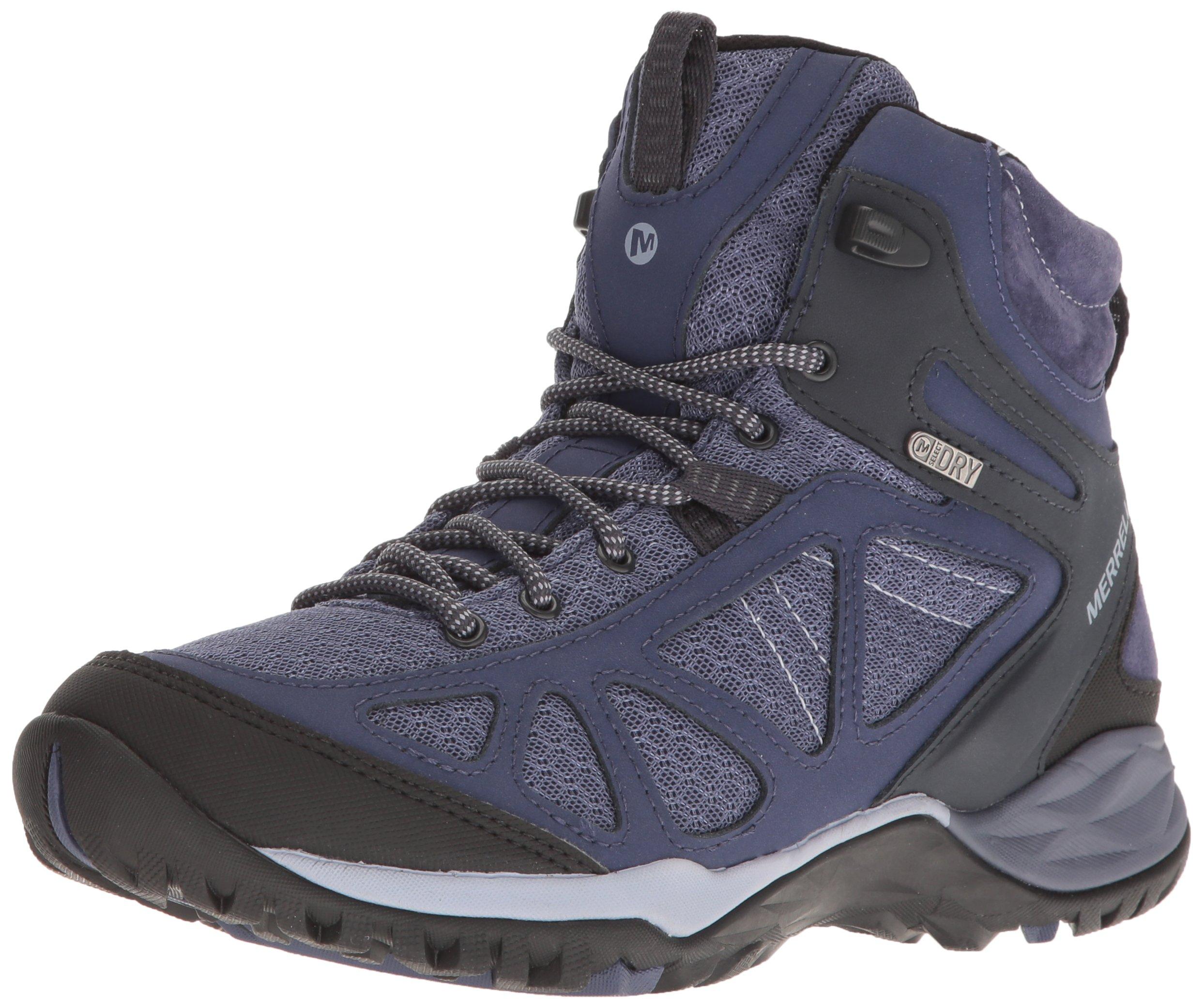 Merrell Women's Siren Sport Q2 Mid Waterproof Hiking Boot, Crown Blue, 9 M US