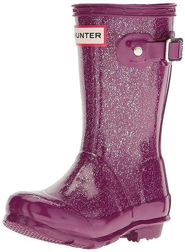 a356315355ab Hunter Kids Original Rubber Glitter Finish Wellington Bright Violet  -Violet-1 (Older)