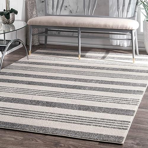 nuLOOM Vernazza Striped Area Rug, 5 3 x 7 7 , Grey