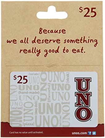 Amazon.com: Uno's Gift Card $25: Gift Cards