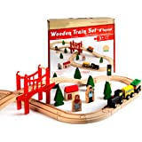 Classic Wooden Figure Eight Train Set