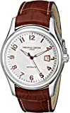 Frederique Constant Men's FC-303RV6B6 RunAbout Watch with Brown Leather Strap