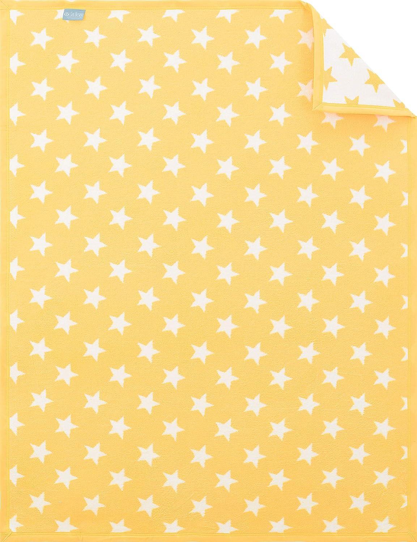90x120 cm Kuscheldecke für Babybett /& Kinderwagen sei Design Babydecke