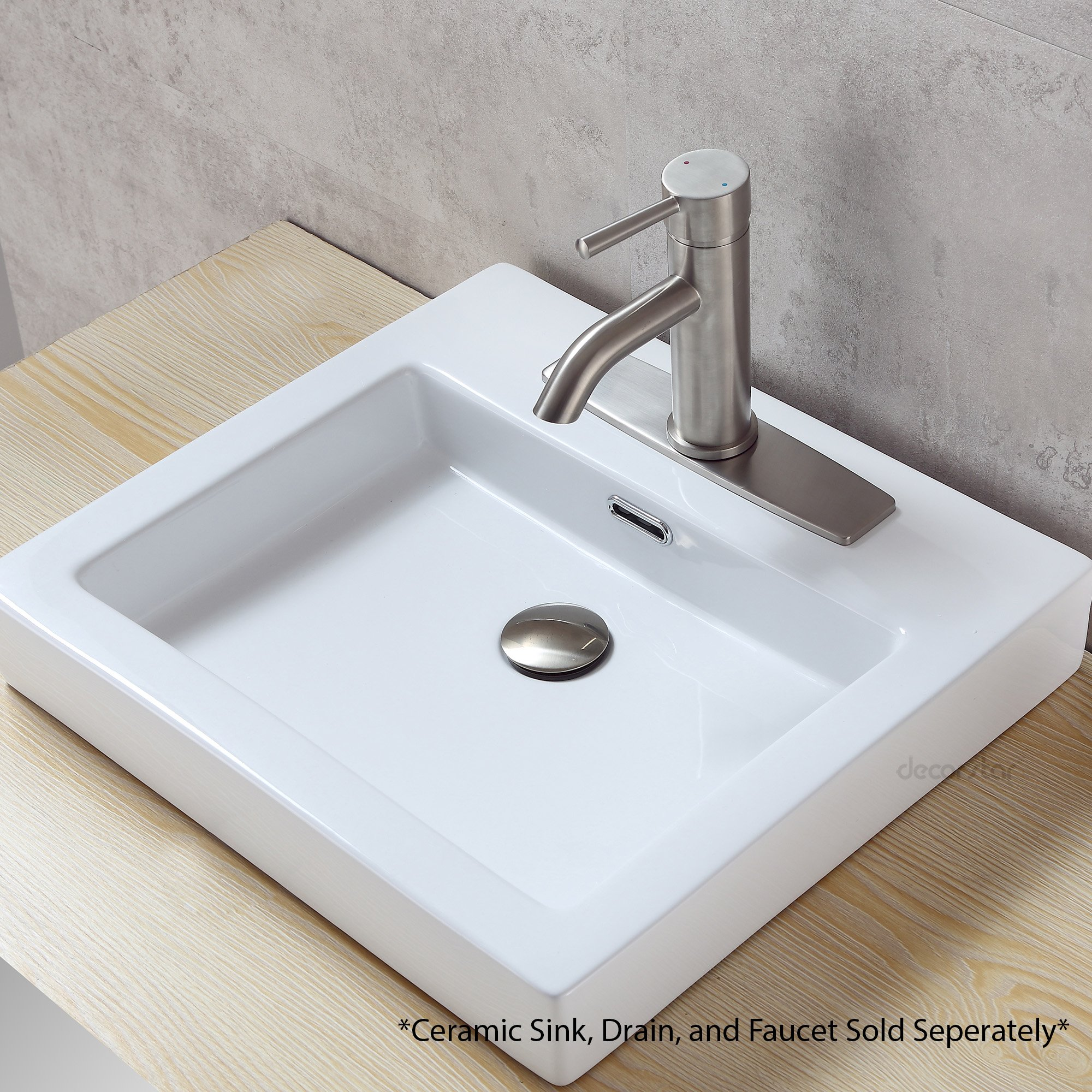 Decor Star PLATE-10B 10'' Kitchen Sink Faucet Hole Cover Deck Plate Escutcheon Brushed NickeL by Decor Star (Image #3)