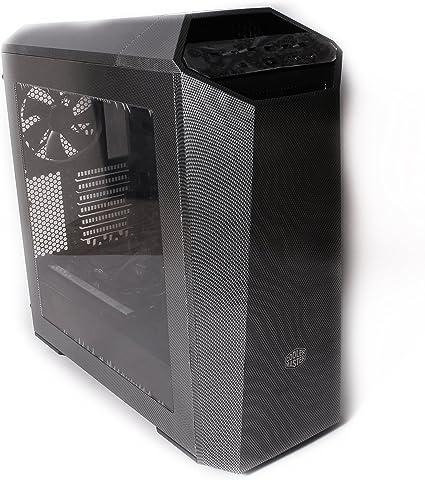 Silver Carbon Fiber Mo-Co-So Custom Hydro Dipped MasterCase Maker 5 Mid-Tower Computer Case