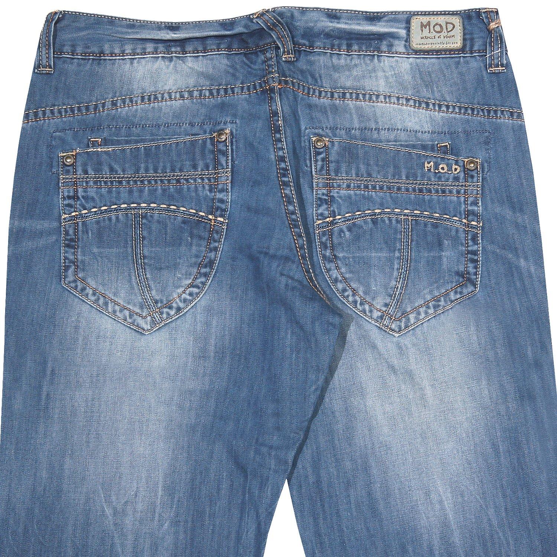 Miracle of Denim, , Jeans, mittelstarker Denim, darkblue used aged crashed,  W 25 L 32 [12386]: Amazon.de: Bekleidung