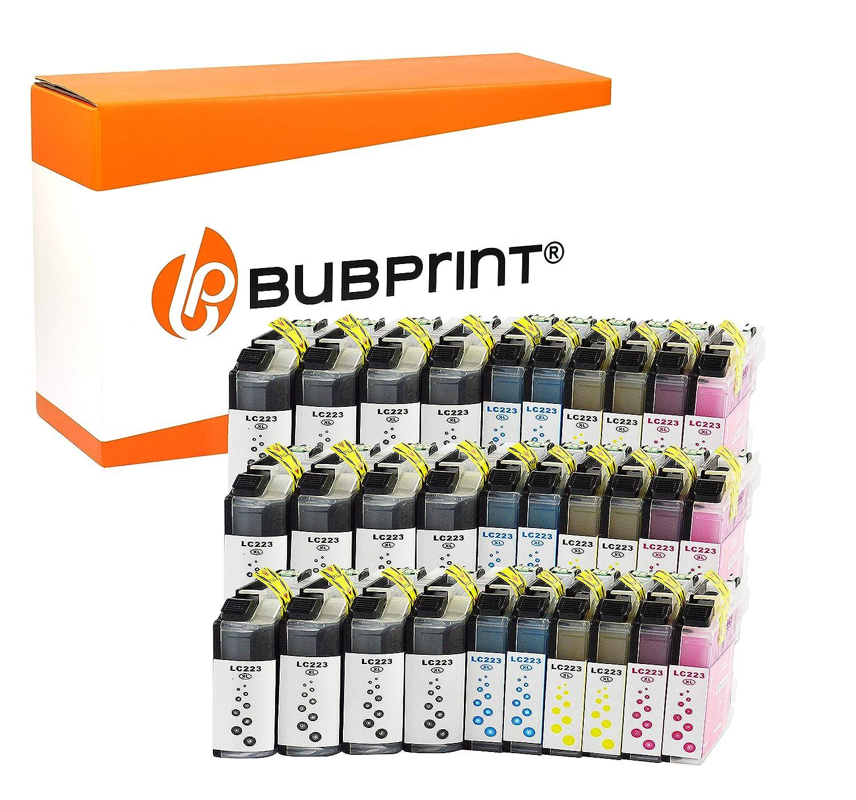 Bubprint Cartuchos de Impresora Compatible con Brother LC-223 XXL ...