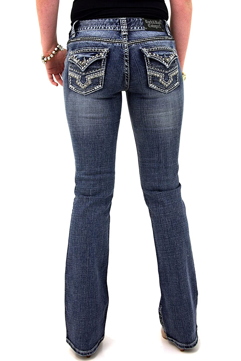 Rock and Roll Cowgirl W1-3693 Midrise Bootcut Denim