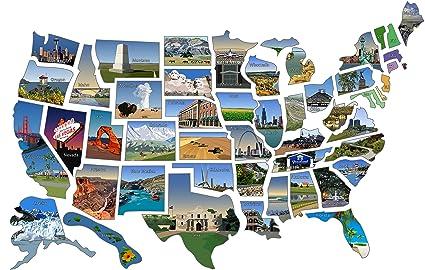 RV State Sticker Travel Map || 14\