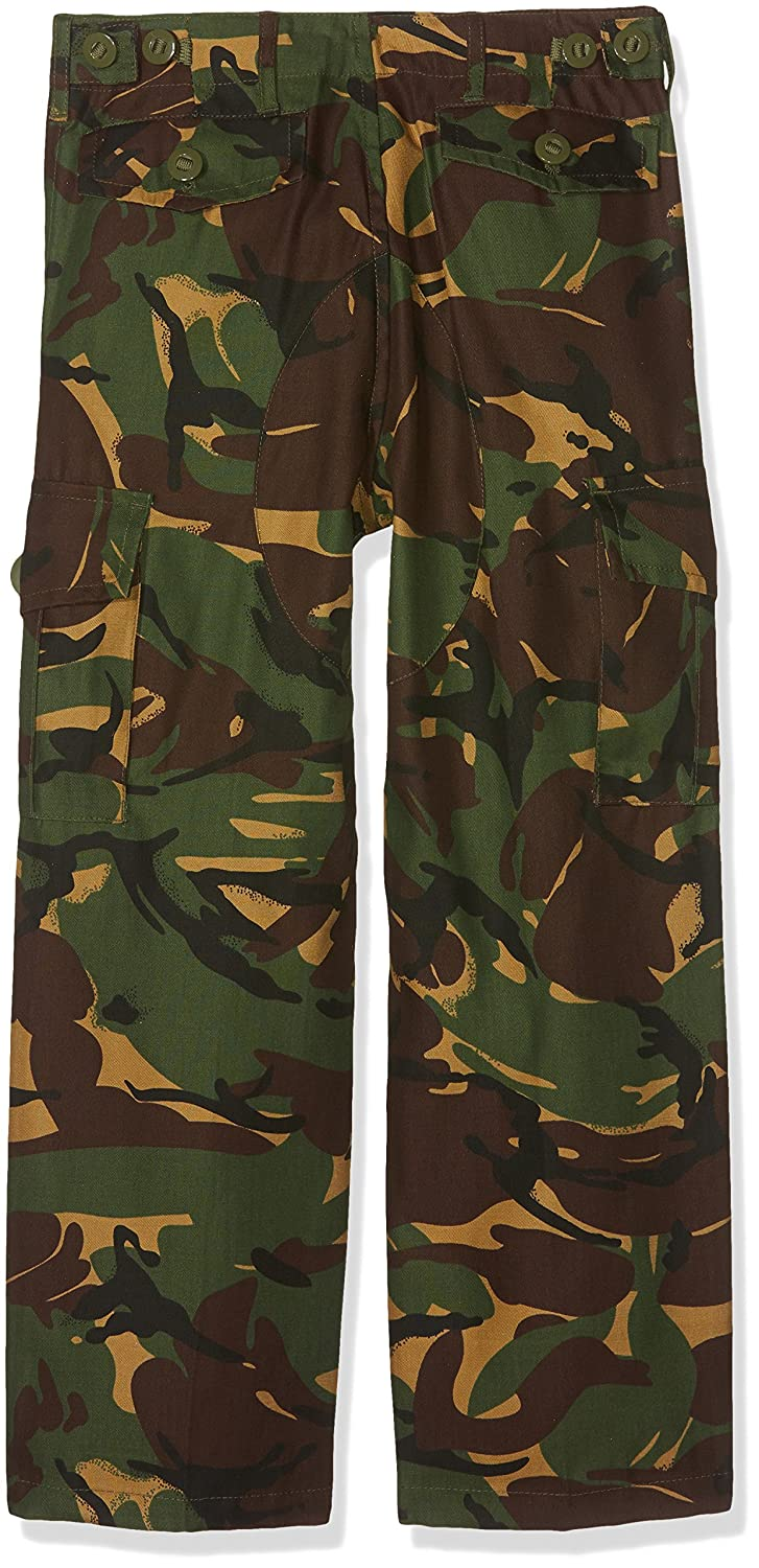 Pro Force Boys 9-10 Army Combats Woodland Camouflage Soldier Cargo Trousers