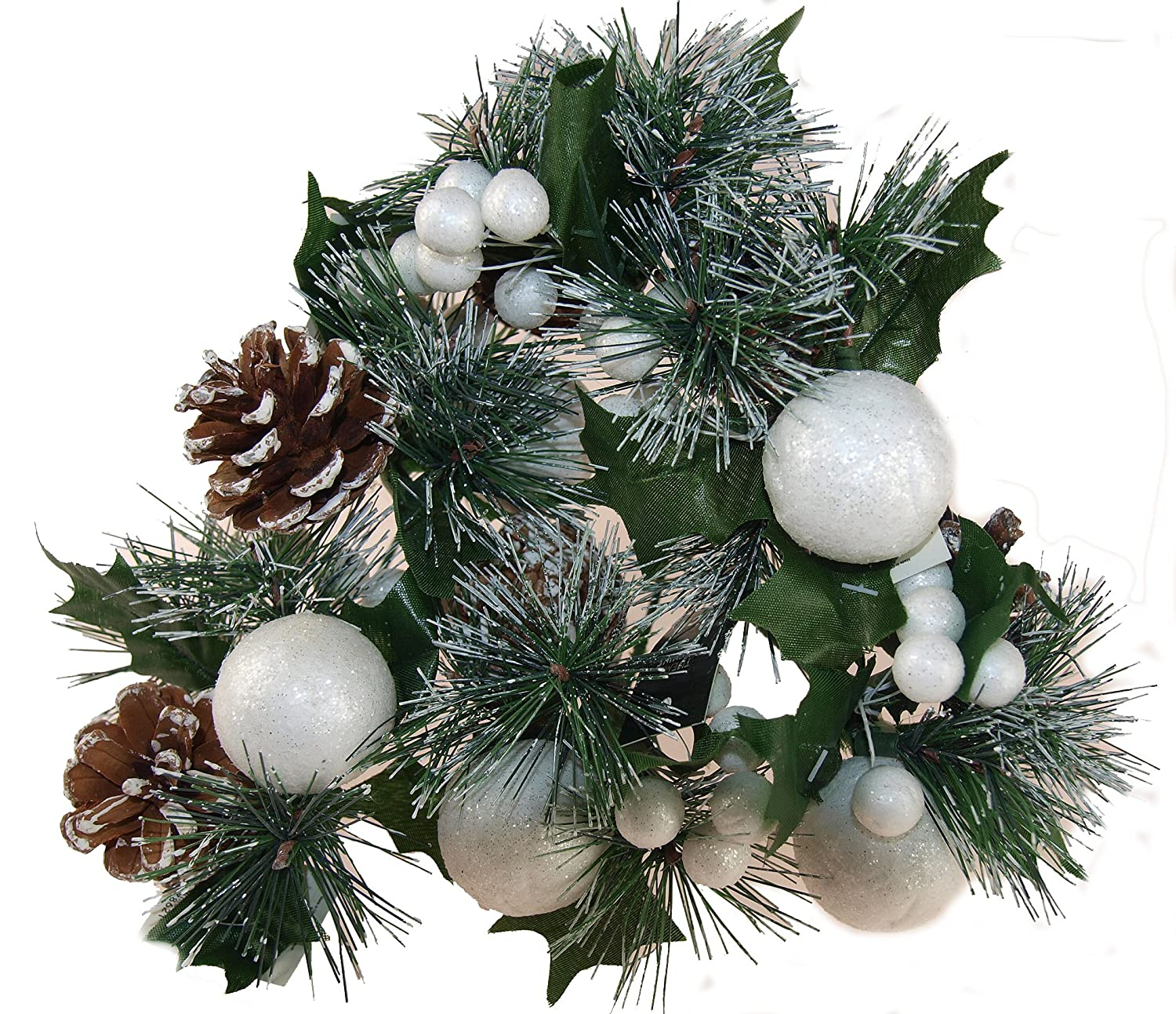 Luxury Pine Pine Cone /& Baubles Christmas Floristry Pick for Crafts