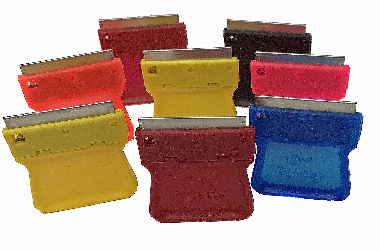 MINISCRAPER Original Mini Razor Scrapers, 8 Pack U.S. Made