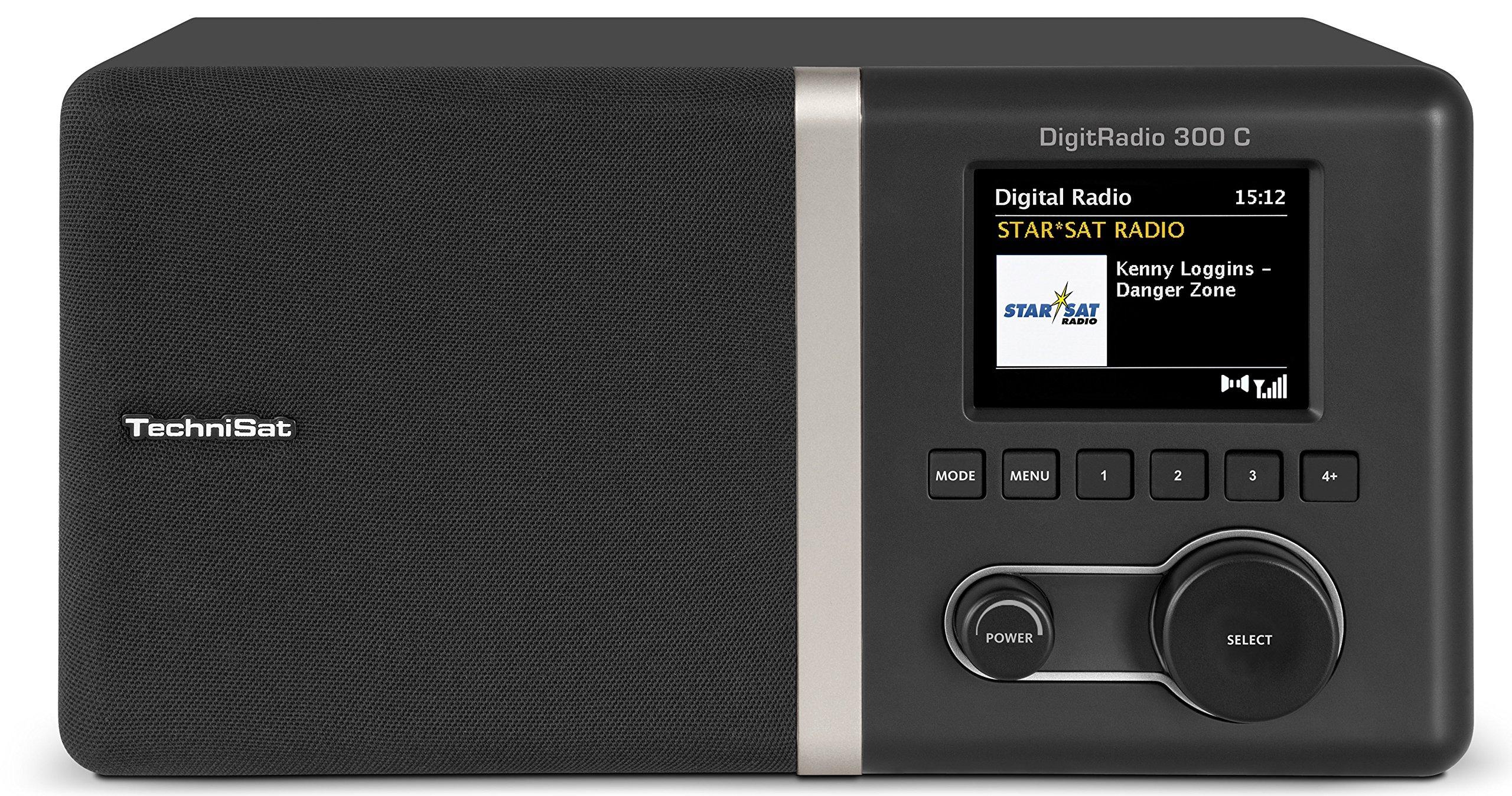 TechniSat DIGITRADIO 300 C Digital-Radio mit Spitzenklang durch integrierten Equalizer und Bassreflextube, DAB+, UKW, 2,8 Zoll Farbdisplay, Radiowecker mit Sleeptimer, Kopfhöreranschluss, AUX-In und Audio-Ausgang analog, anthrazit product image