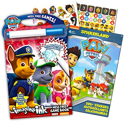 Color Paw Patrol Imagine Ink Book And Sticker Pack Set