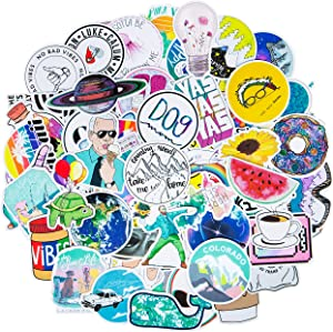 Roberly Cute VSCO Stickers Water Bottles, 103 Pack Trendy Waterproof Water Bottle Stickers Laptop Stickers for Teen Girls Kids Computer Guitar Skateboards Skate Stickers Popular Element Decals