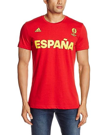 adidas Graphic Camiseta Selección de España, Hombre, Rojo-(Escarl), S