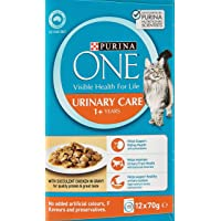 Purina One Adult Urinary Care with Chicken Wet Cat Food, 5 Pack x (12x70g)