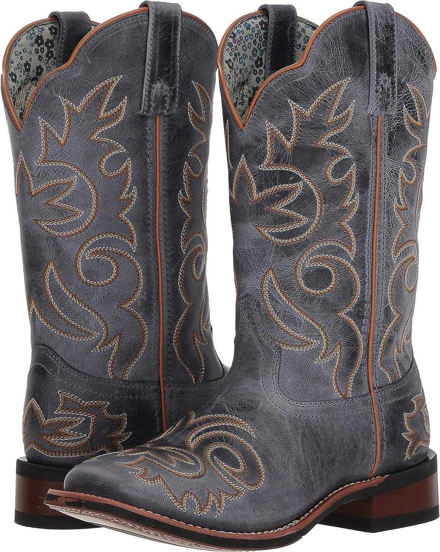 Laredo Women's Eva Vintage Stockman Boot Square Toe B079TXFLH6 9.5 B(M) US|Blue
