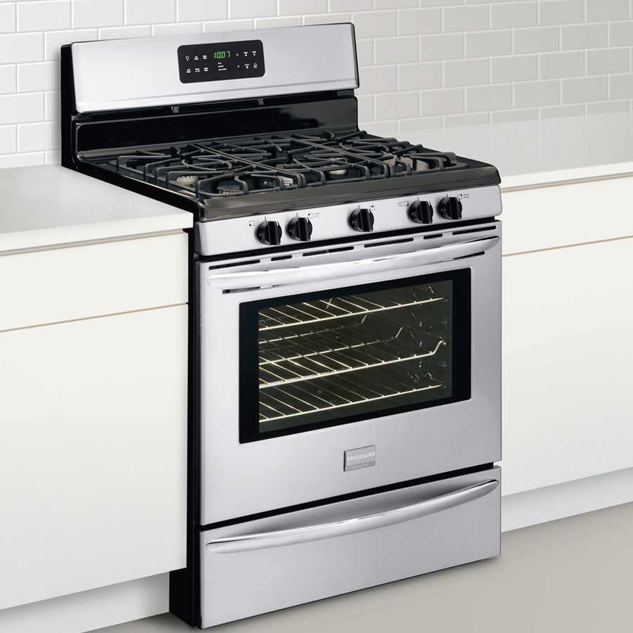Shop Frigidaire Gallery 5-Burner Freestanding 5-cu ft Self-Cleaning Gas Range (Stainless Steel) (Common: 30-in; Actual: 29.88-in) at Lowes.com