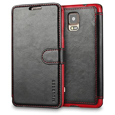 Mulbess Samsung Galaxy Note 4 hülle Schwarz,Ledertasche für Samsung Galaxy Note 4 Tasche Leder