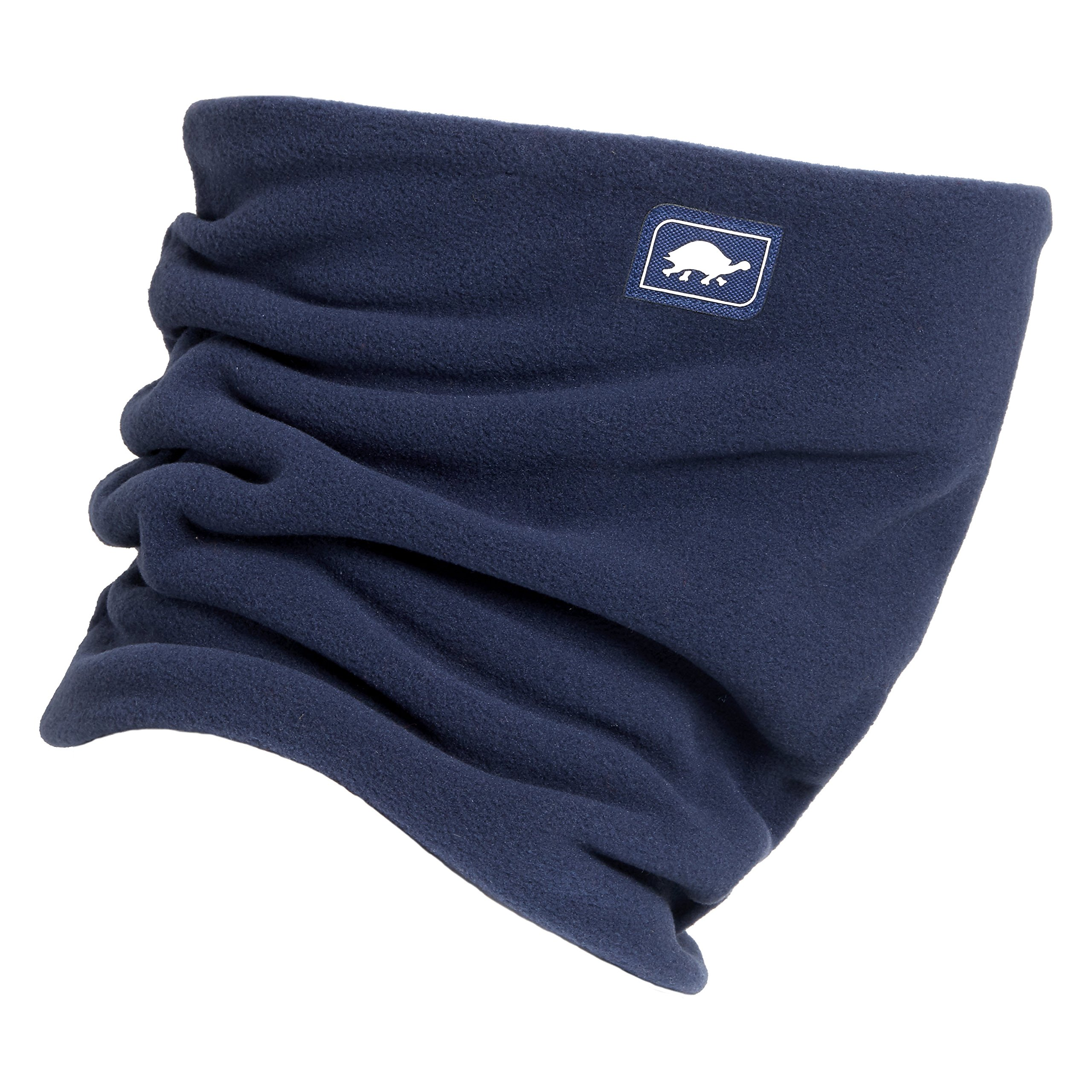 Turtle Fur Micro Fur Stretch Double Layer Neck Neckwarmer, Navy