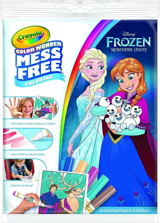 Amazon Com Crayola Color Wonder Coloring Pad And Markers Frozen
