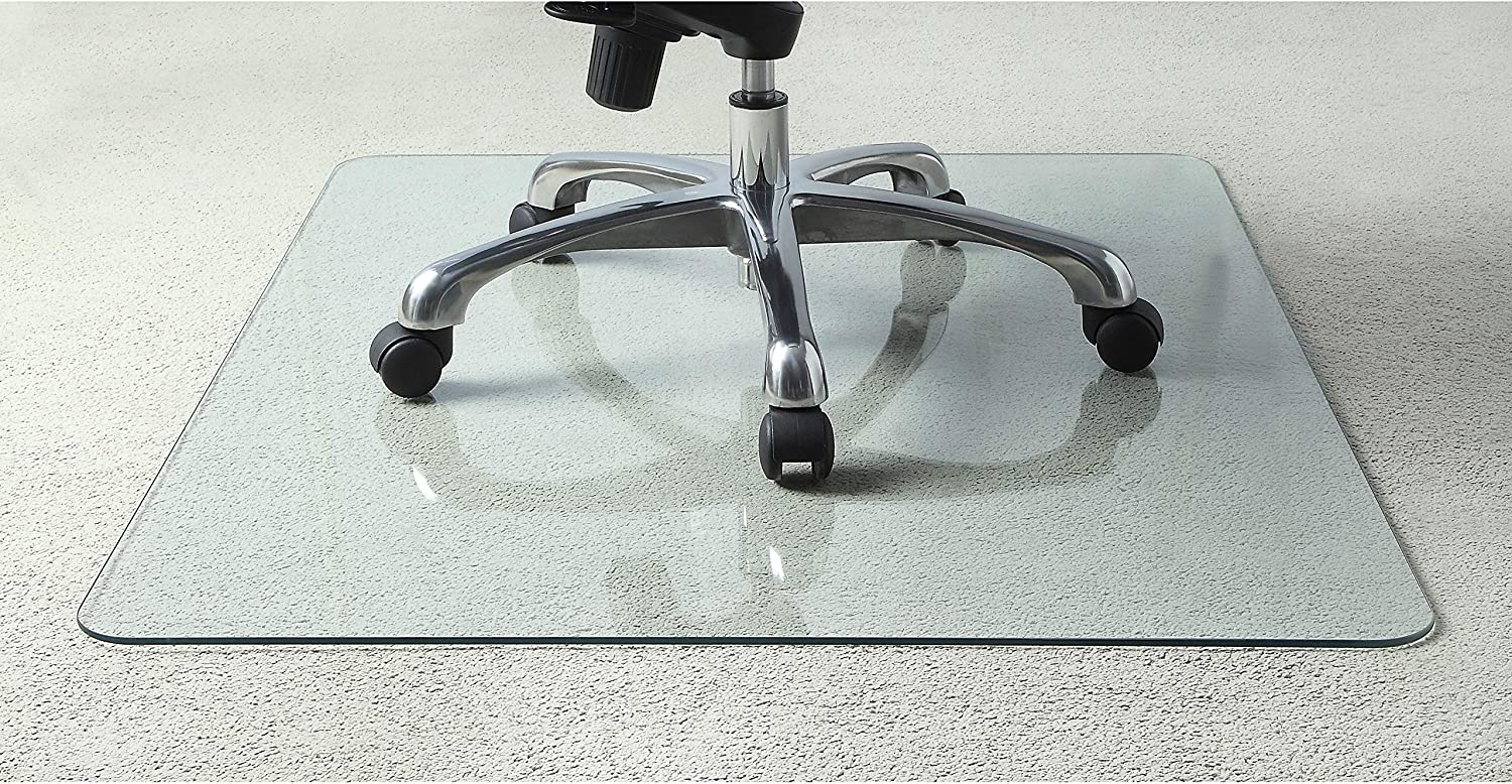 Lorell Tempered Glass Chair Mat,