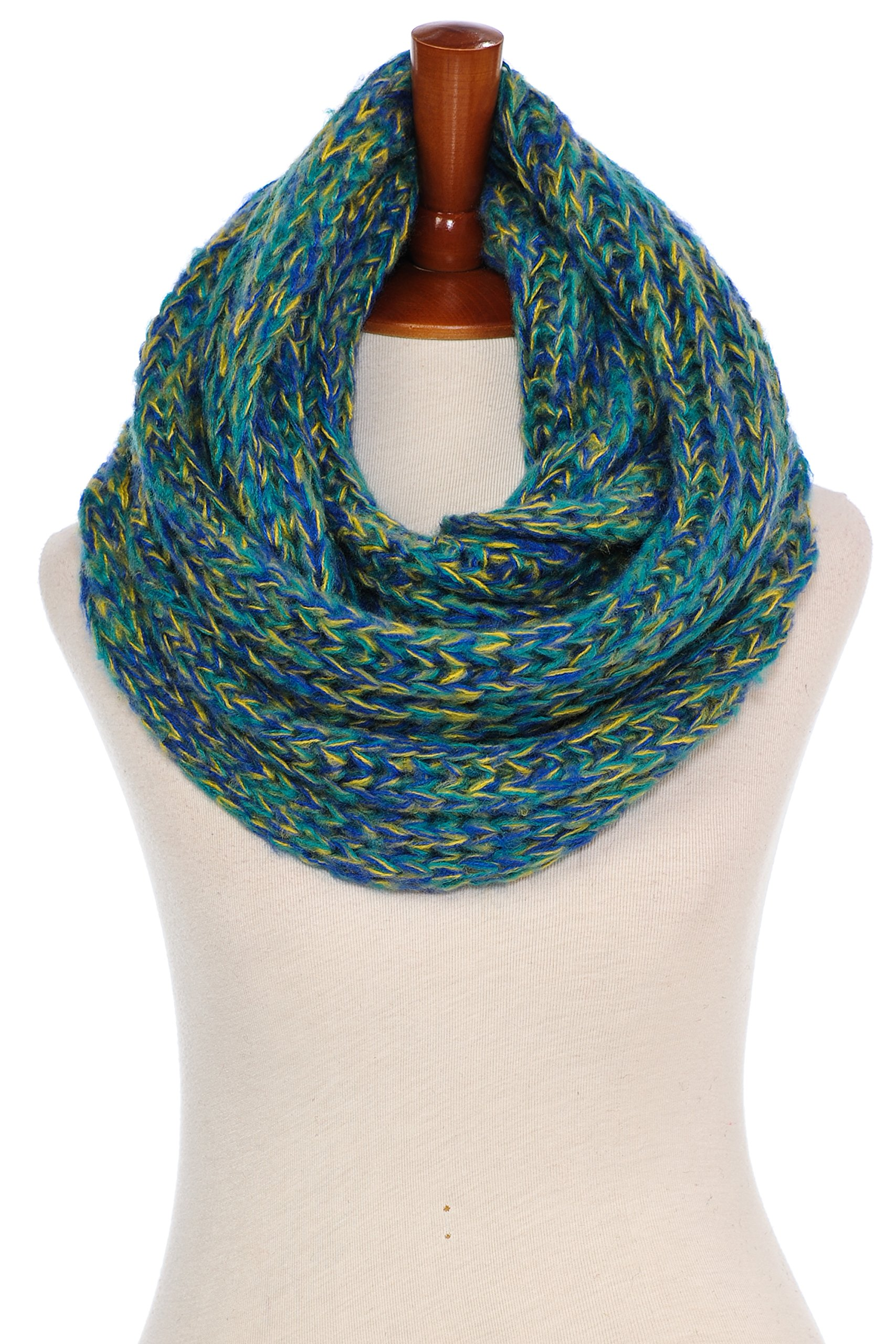 Basico Women Warm Circle Ring Infinity Scarf Neck Warmer Various Colors (1714 Teal)