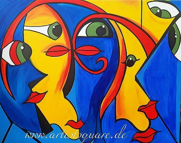 Moderne Kunstwerke original kunstwerk gemälde 100 x 80 cm malerei acrylbild