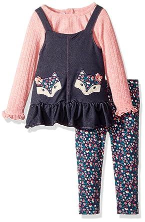 Nannette Baby Girls Playwear Long Sleeve Top and Legging Set, Blue, ...