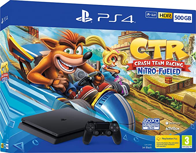 Crash Team Racing Nitro-Fueled 500GB PS4 Bundle - PlayStation 4 ...