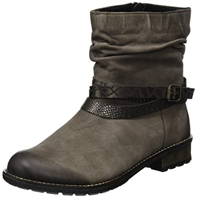 D1774, Womens Cold Lined Biker Boots Half Shaft Boots and Bootees Remonte