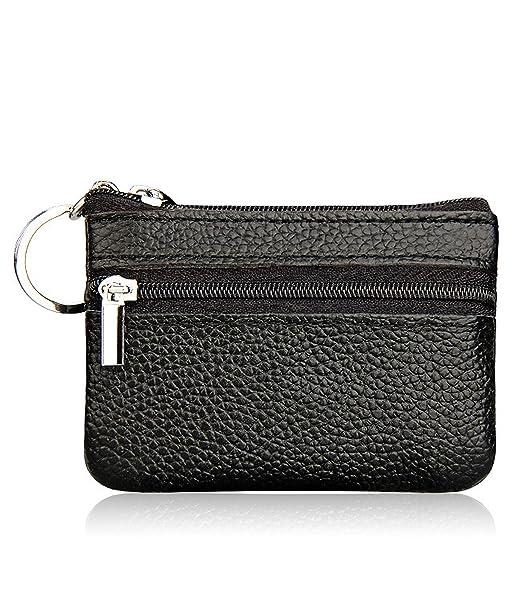Amazon.com: Mujer de piel genuino bolsillos con cierre ...